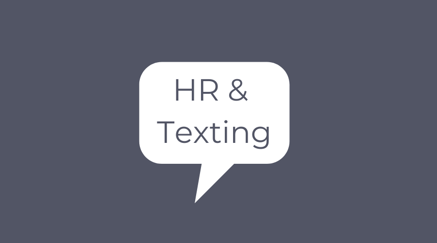 hr and texting