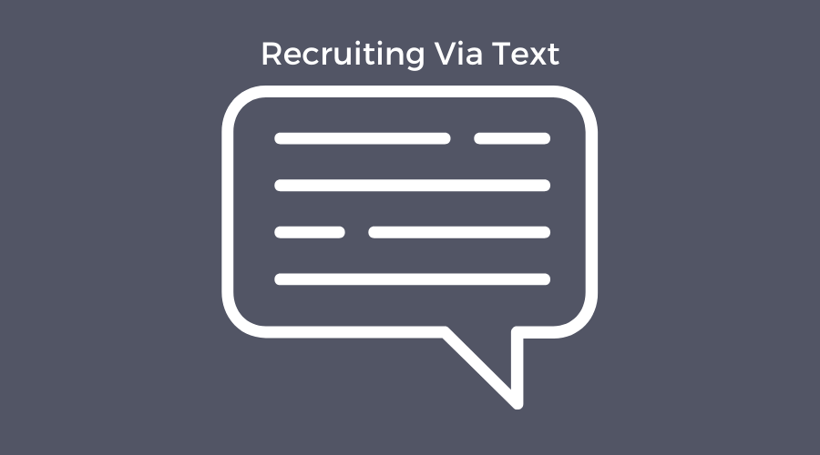 recruiting via text message