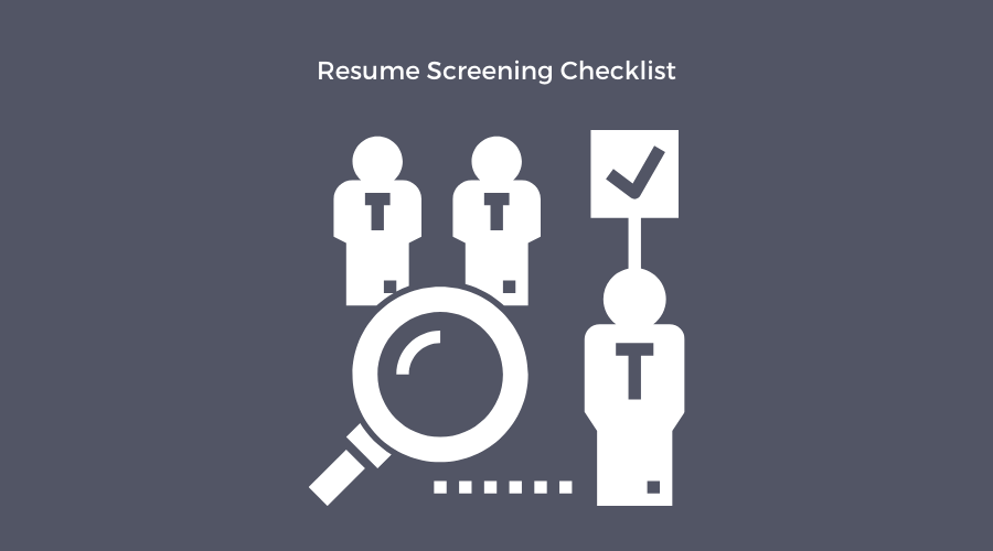 resume screening checklist